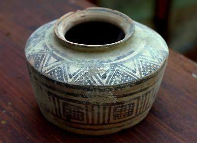 Authentic 3000 BC Artifact Painted Pottery Pot Artifact Time Of Moses!