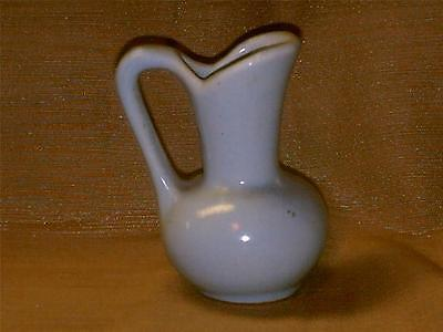 "Vintage Niloak Pottery Miniature Pitcher-Alley Design-Gloss Blue-3"" Tall-Nice"