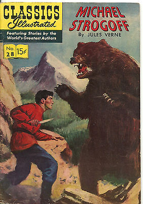 Classics Illustrated #28 - VG - Michael Strogoff by Jules Verne