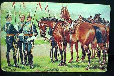 Tuck's Postcard Pre WW1 Waiting To Mount 21st Lancers Harry Payne Military