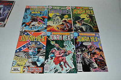 Jonah Hex Weird Western Tales War Comic Book Lot of 6 Bronze Age and Later