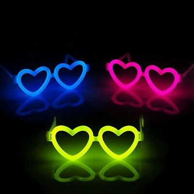 20PCS DIY Heart-shape Frame With Glow Stick Luminous Ceremony Party Glasses