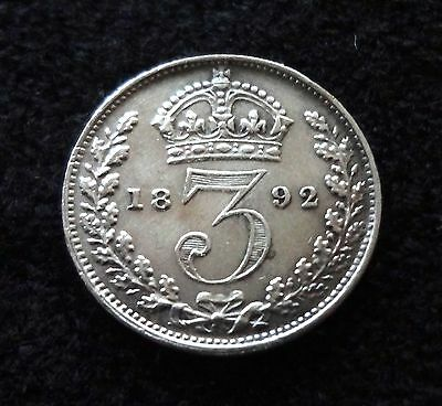 Great Britain 1892 Silver 3 Pence Three Pence UK Coins World Coins British Coins