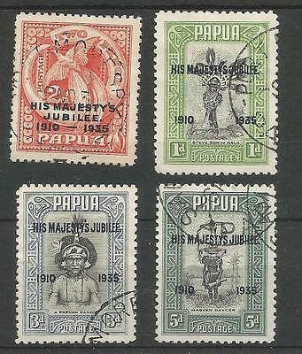 Papua The 1935 Gv Silver Jubilee Set Fine Used Cat £14.50