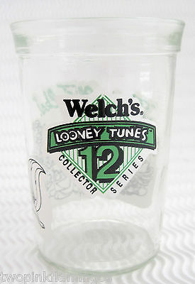 Vintage 1994 Welch's Collector LOONEY TUNES #12 Series Glass Warner Brothers