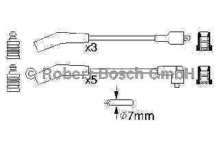 Bosch * FREE SHIPPING Ignition Leads Cable Kit  0986356819