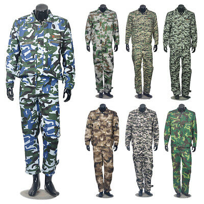 Men Military Combat Camo Camouflage Suit Airsoft Uniform Sets-Jacket Pants Hot