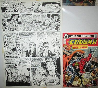 Frank Springer WEREWOLF 1975 Cougar 2 Superhero Art Page 6 Pencil & Ink ORIGINAL