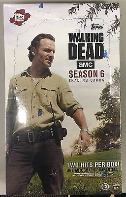 (1) Topps WALKING DEAD SEASON 6 Trading Cards SEALED BOX 24 packs NEW