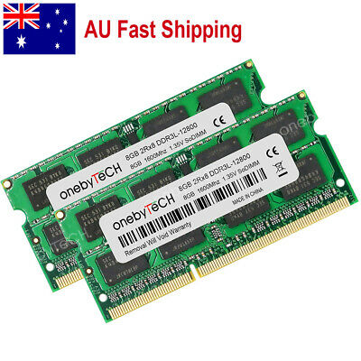 AU 16GB KIT 2x8GB PC3L-12800 DDR3-1600Mhz 1.35V 204pin SO-DIMM Memory Module
