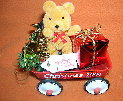 Figi's Teddy Bear Wagon Ornament 1994 #051-3519-5-94  UPC:710534485173