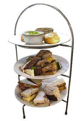 2, 3 Tier Stainless Steel Afternoon Tea Stand / Cake / Patisserie Table Display