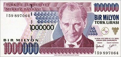 Türkei / Turkey 100.000.000 Lira 1970 (1995) Pick 209 (1)