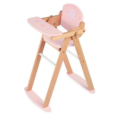 Tidlo Toys Dolls Wooden High Chair Doll Accessory NEW