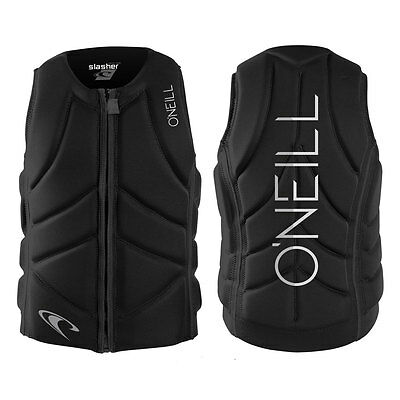2017 O'Neill Slasher Comp Mens Front Zip Comp Vest Black
