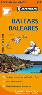 Balears / Baleares Regional Map 579 (Michelin Regional Maps) (Map...