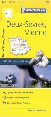 Deux-Sevres, Vienne Michelin Local Map 322 (Michelin Local Maps) . 9782067210325