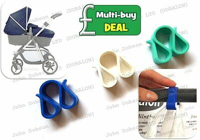 Pram Hooks x 2 Clips Buggy Pushchair Carrier Bag Hook ideal for Shopping Travel