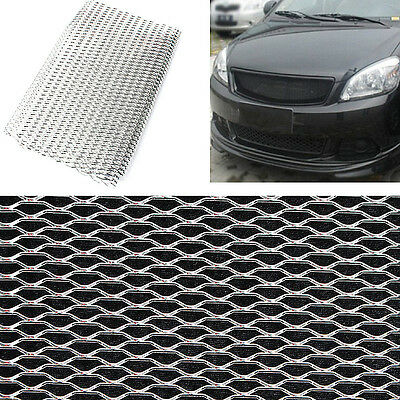 Aluminium Racing Grille Mesh Vent Car Tuning Grill  Silver Color Size 100cm x 33