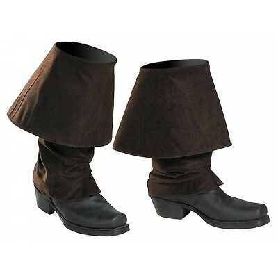 Pirate Boot Covers Costume Accessory Adult Pirates of the Caribbean Halloween