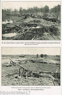 WW1, 1917, Westfront Maschinengewehrstand Munitionslager, Bilddokument (20)