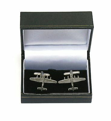 Lancaster Bomber Pewter Cufflinks Ideal Mens RAF Plane Pilot Gift Boxed