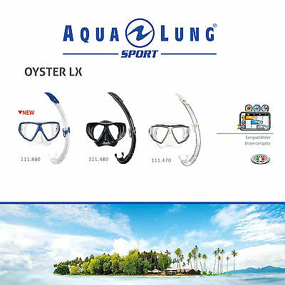 AQUA LUNG SPORT OYSTER LX MASK & SNORKEL COMBO SET for SEA SNORKELING DIVING
