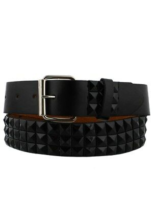Black Pyramid Studded Belt