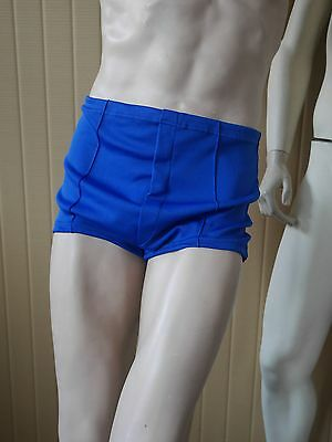 Badehose VEB Bademoden blau 70er Nylon Perlon 70s True VINTAGE Swimming TRUNKS 8