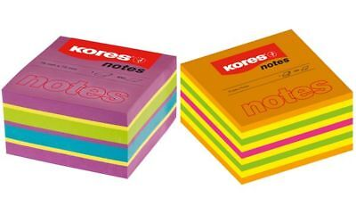 Kores Haftnotizen-Würfel SPRING 4farbig 75 x 75 mm 450 Blatt Post-It Notes