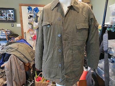 1 x Vintage East German Strichtarn Rain Pattern Camo Uniform JACKET K-48 QUILTED