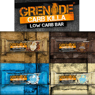 60g GRENADE CARB KILLA HIGH PROTEIN LOW CARB BAR INDIVIDUAL MIXED GYMS KEEP FITT