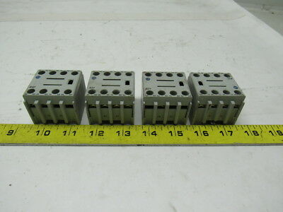 A-B Allen Bradley 100-F Series A Auxiliary Contact Block Lot of 4