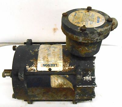Leeson Electric Motor, 111931.00, A6T17Ec23F, Phase 3, 460 Volts, Hp 1/3, Code L
