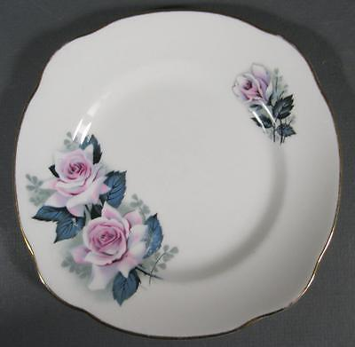 Shabby vintage ceramic Duchess England bone china plate pink roses motifs -chic