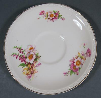 Shabby vintage china Falconware Weatherby England saucer flowers motif chic