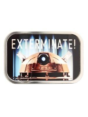 Doctor Who Exterminate! Chrome Dr Who Belt Buckle