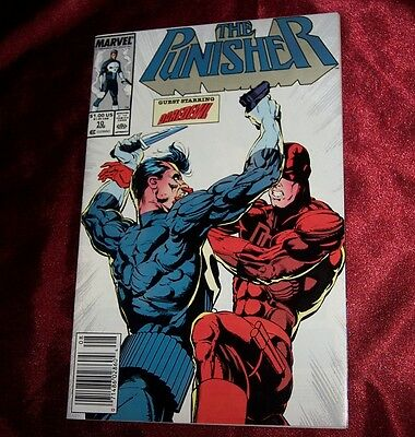 The PUNISHER #10 NM/MINT from 1988 featuring DAREDEVIL & Autographed