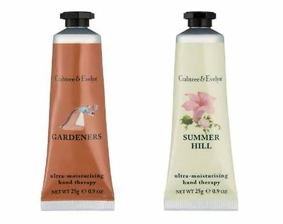 Crabtree & Evelyn - GARDENERS & SUMMER HILL HAND THERAPY - 25g Hand Cream NEW