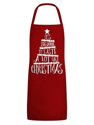 It's Beginning To Taste A Lot Like Christmas Red Apron