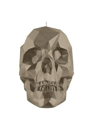Brass Crystal Skull Candle Candles & Incense 28x10cm