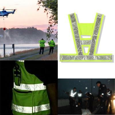 Hi Vis Visibility Yellow Vest Reflective Safety Work Waistcoat Silver Fashion B2