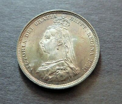 1887 Proof? Toned Great Britain 1 Shilling Coin, Au Condition, Lot #127