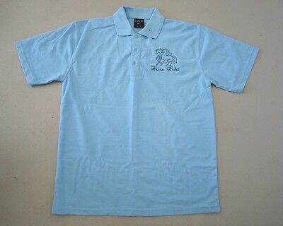 Personalised Embroidered Kid's Shirt in SKY BLUE your choice of Horse Design