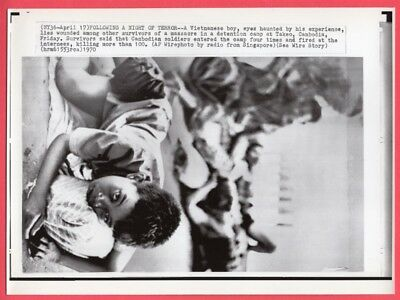 1970 Vietnamese Child Survived Massacre Detention Camp Takeo Cambodia Wirephoto