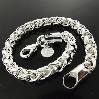 A+A188 Genuine Real 925 Sterling Silver Sf Ladies Antique Cuff Bracelet Bangle
