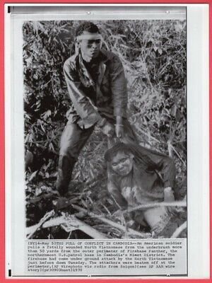 1970 Firebase Panther Cleanup After Vietnamese Attack Cambodia News Wirephoto