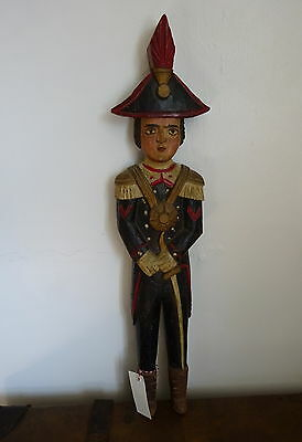 Antique Folk Art Wooden Soldier Figure