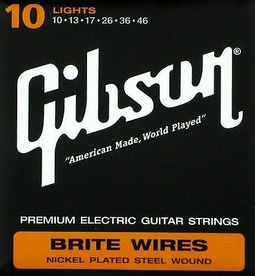 Gibson Brite Wires Premium Electric Guitar String Set 10 Gauge