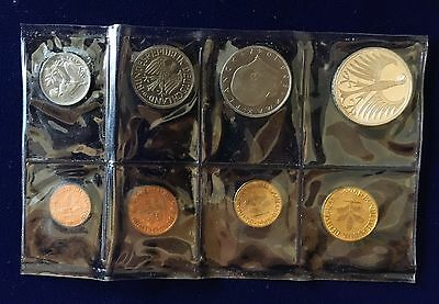 "Germany  1968-G  ""karlsruhe Mint""  Annual Proof Set Of Coins, 5 Mark, 2 Mark,..."